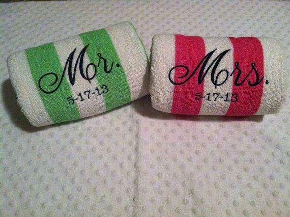 Twee badhanddoeken als huwelijkscadeau
