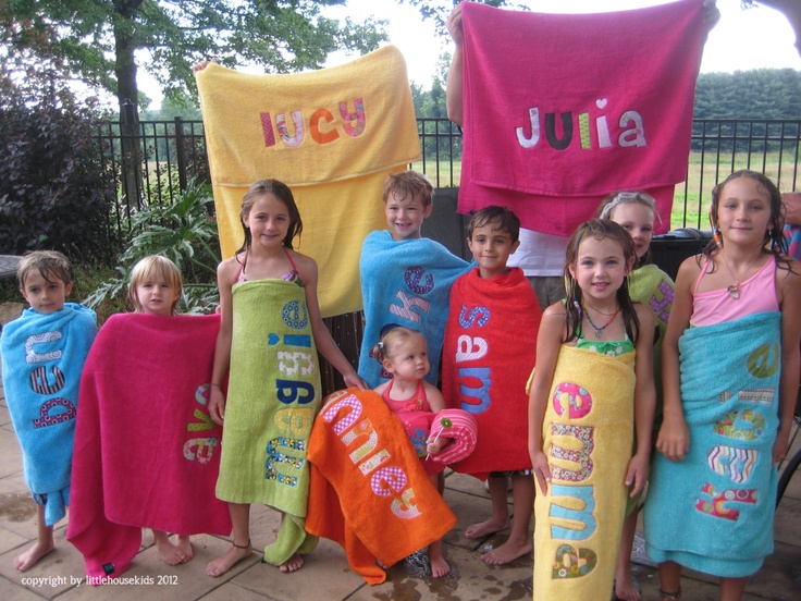 Gepersonaliseerde badhanddoek voor kinderen