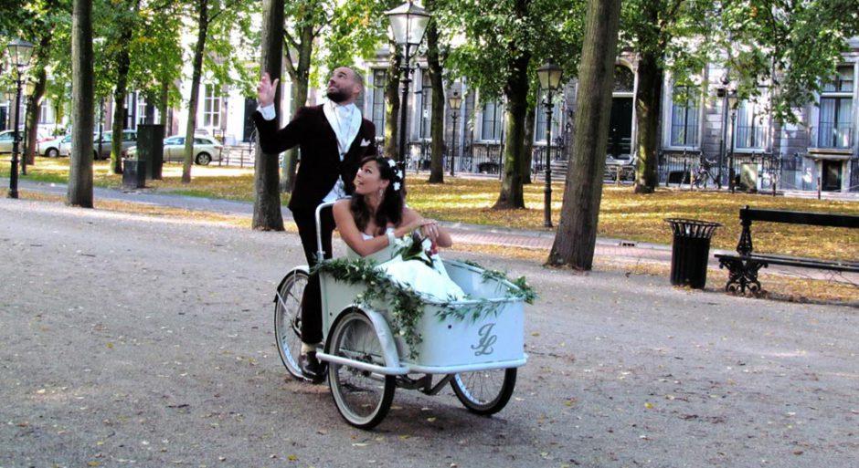 bakfiets als trouwvervoer