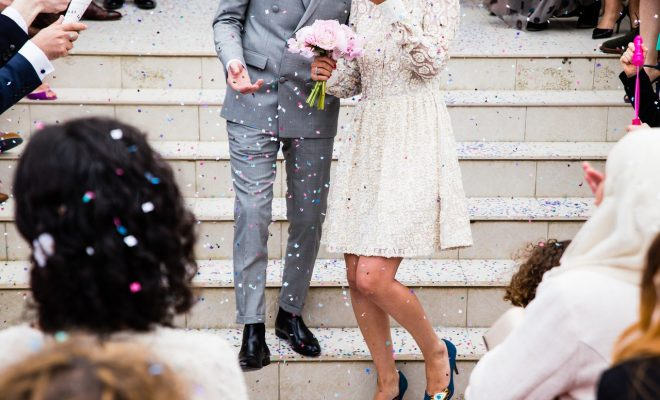 het organiseren van een trouwfeest