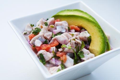 Ceviche een gerecht uit Peru