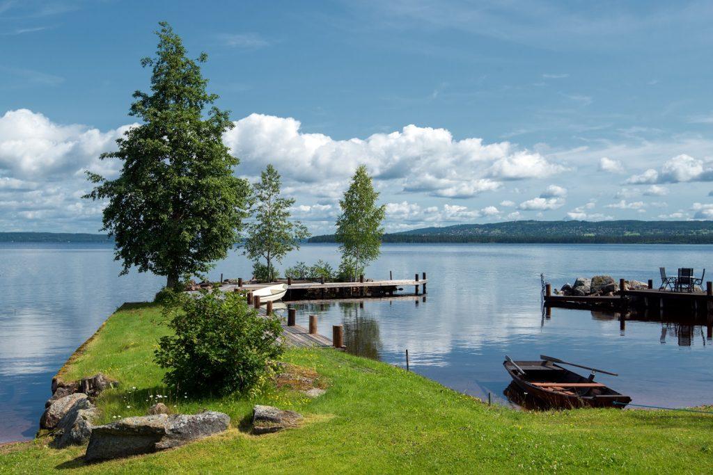 meer in zweden genaamd Siljanmeer