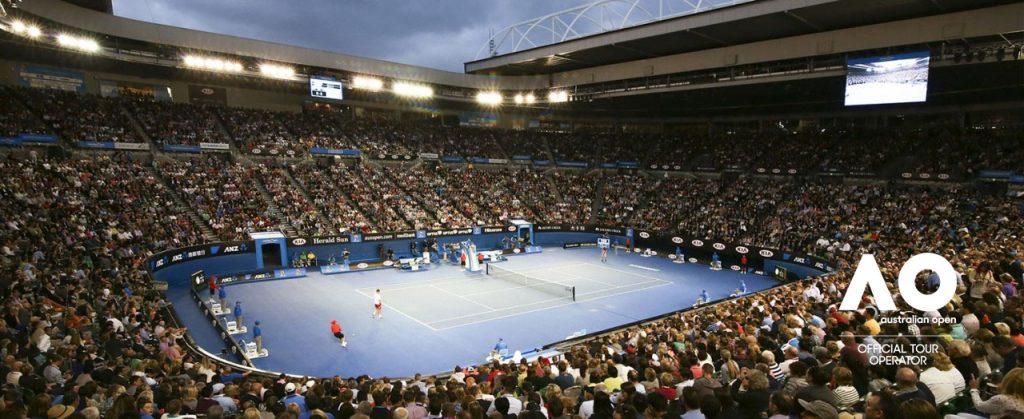 Tennis toernooi in Melbourne