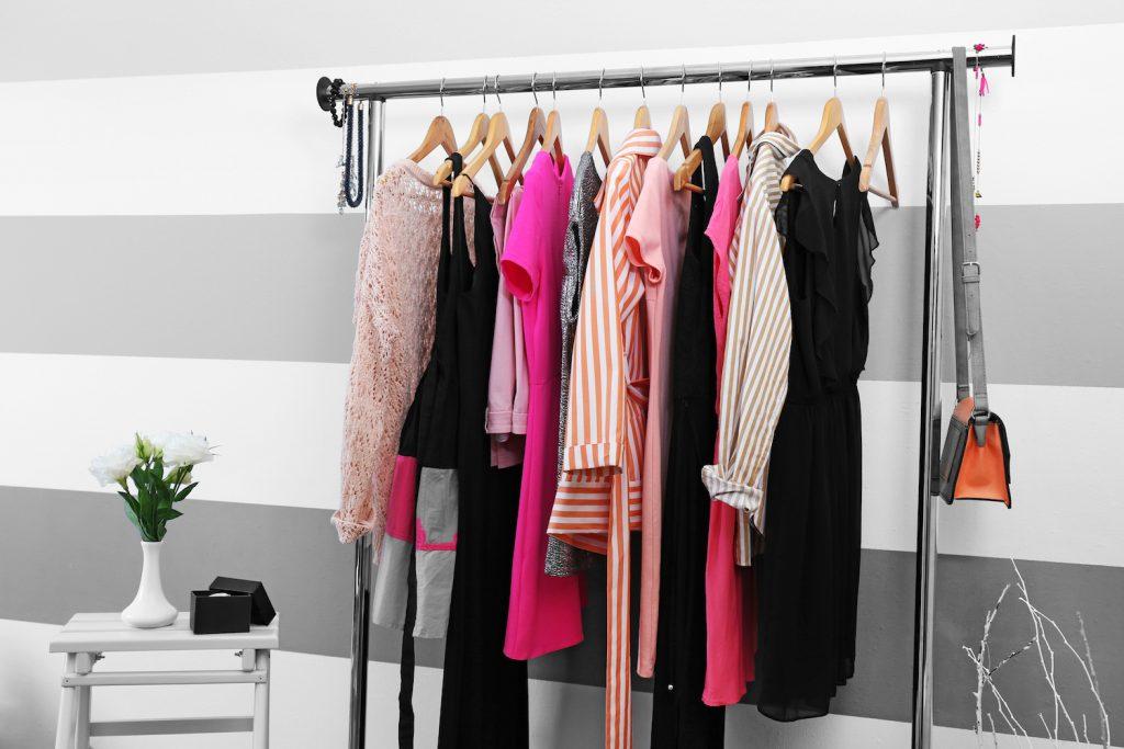 woontrend kledingrek