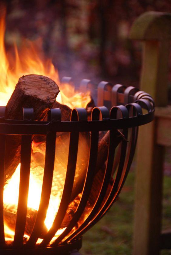 vuurkorf als terrasverwarmer