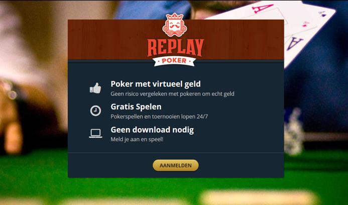 poker venster online spelletje