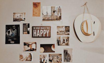 Vrolijke en gepersonaliseerde wanddecoratie voor in de woonkamer