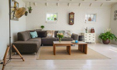 Woonkamer houten vloeren